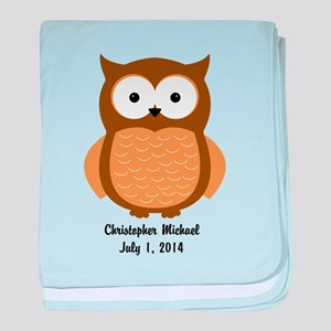 Owl (brown) Baby Blanket